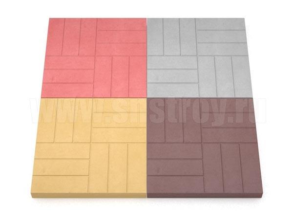 плитка 12-кирпичей цветная