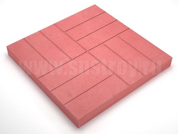 плитка 12-кирпичей красная