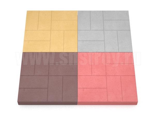 плитка 8 кирпичей цветная