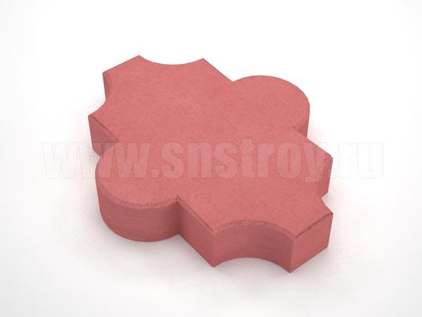 плитка клевер гладкий красная