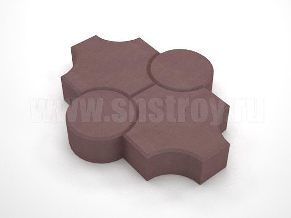 плитка клевер рельефный коричневая