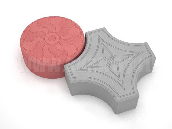 плитка кружева серая с красной